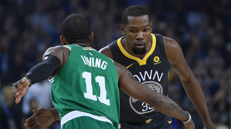 Kyrie Irving and Kevin Durant face off in the 2018-19 regular season