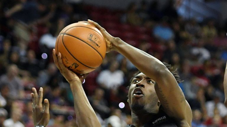 Nassir Little rises to the rim in Summer League