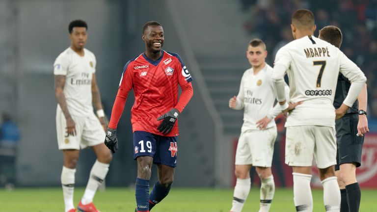 Pepe scored one and set up two in Lille's 5-1 destruction of PSG last season