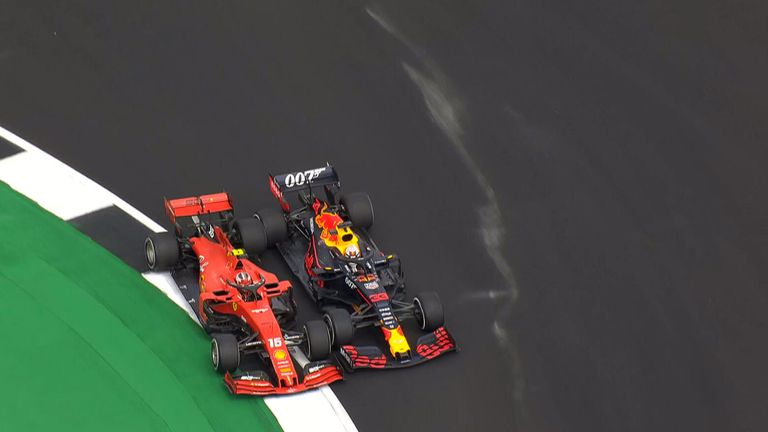 How Charles Leclerc and Max Verstappen came together on track amid an amazing long-running duel at Silverstone