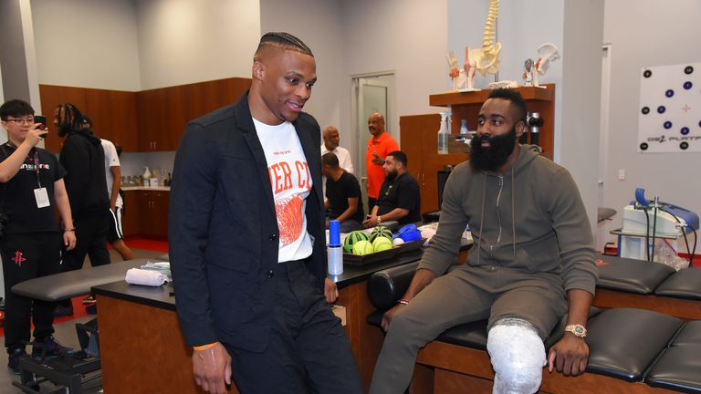 Russell Westbrook and James Harden 'a wonderful combination', says Hakeem Olajuwon | NBA News | Sky Sports