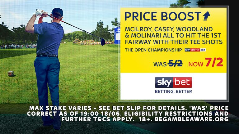 Sky Bet the Open D2 Price Boost