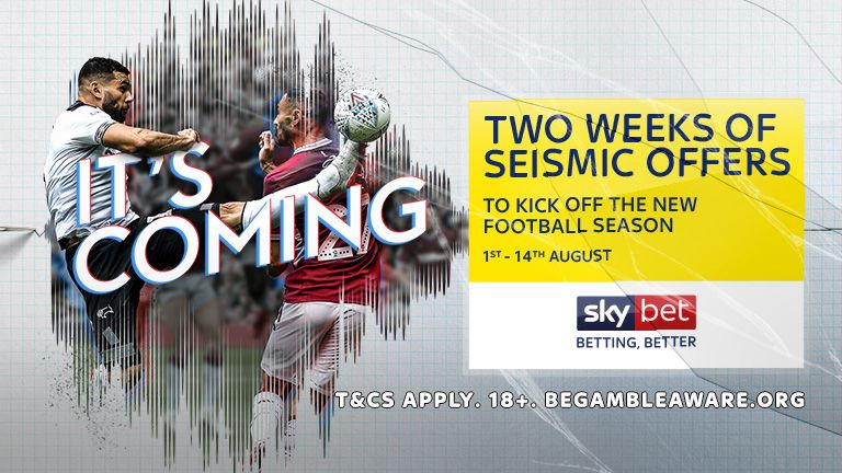 Sky Bet - Two Weeks of Seismic Offers - 1st - 14th August
