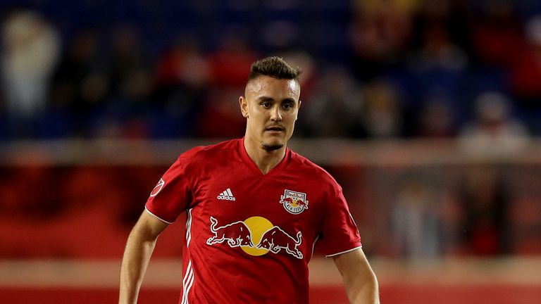 Aaron Long in action for New York Red Bulls