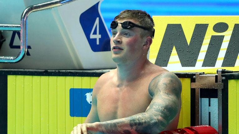 Peaty is the first swimmer in history to go under 57 seconds for the 100m breaststroke, clocking 56.88