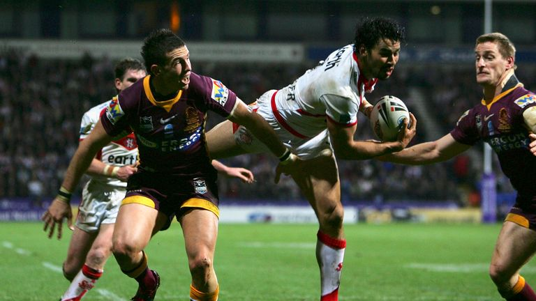 Ade Gardner scored the winning try for St Helens against Brisbane Broncos in 2007
