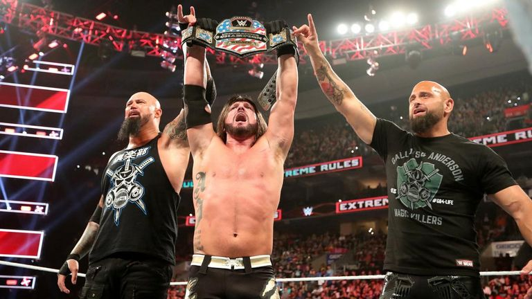 AJ Styles ended Ricochet's brief US title run - with The Club playing a major part