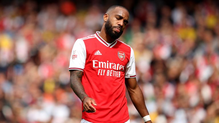 Alexandre Lacazette was forced off with injury early on