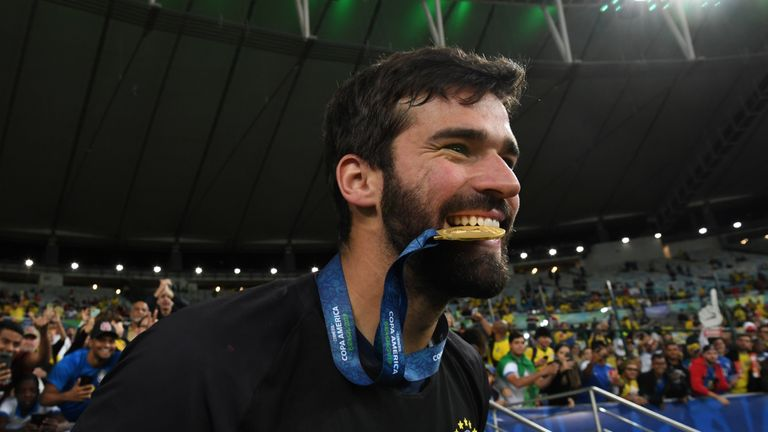 Alisson Becker won the Copa America with Brazil