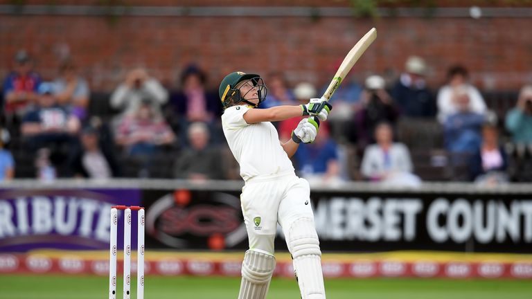 Alyssa Healy has score 214 runs in the Women's Ashes so far