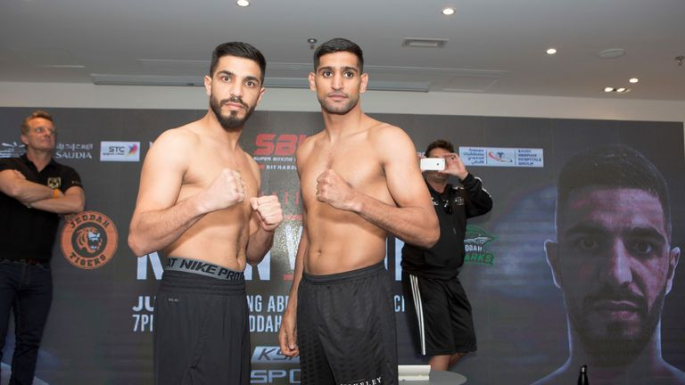 Khan's opponent Dib is stepping up three weight divisions