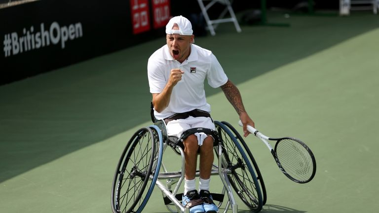 Andy Lapthorne has developed a reputation as something of a comeback king based on his performances at the British Open (picture: LTA)