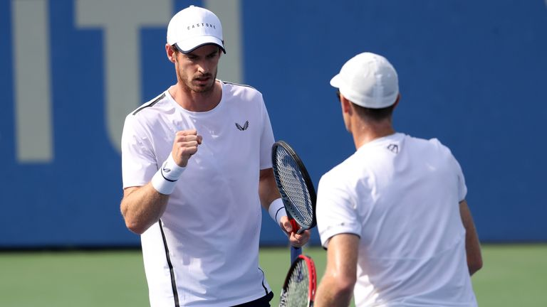 Murray joined forces with his brother Jamie at the Citi Open