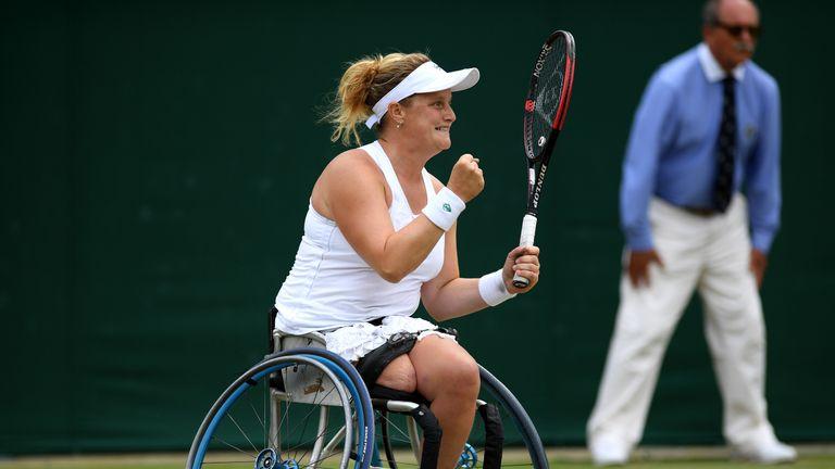 Aniek van Koot defeated her doubles partner Diede de Groot to clinch singles glory