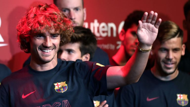 Griezmann signed for Barcelona from Atletico Madrid this month