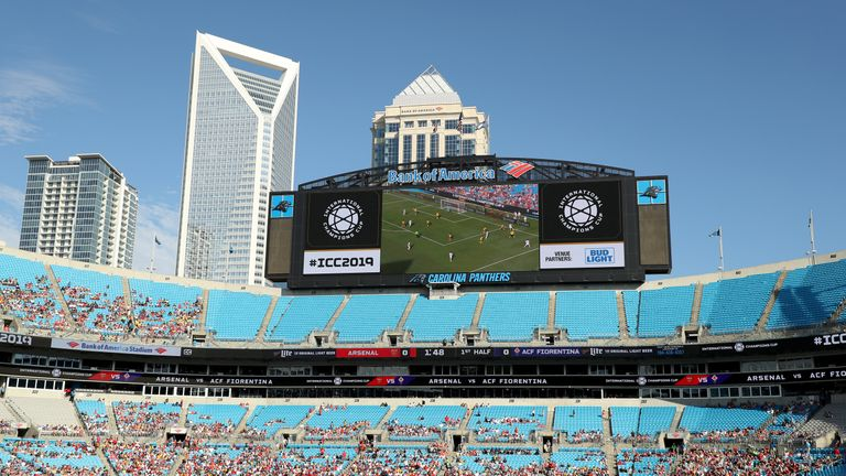 Just under 35,000 watched Arsenal's second game of pre-season at the Bank of America Stadium in North Carolina, which holds 75,000 at full capacity