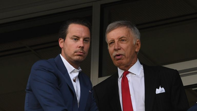 Arsenal Director Josh Kroenke has come to the defence of his father and owner of Arsenal, Stan Kroenke, over the running of the club.