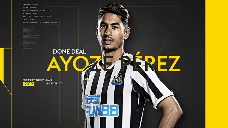 Ayoze Perez done deal graphic