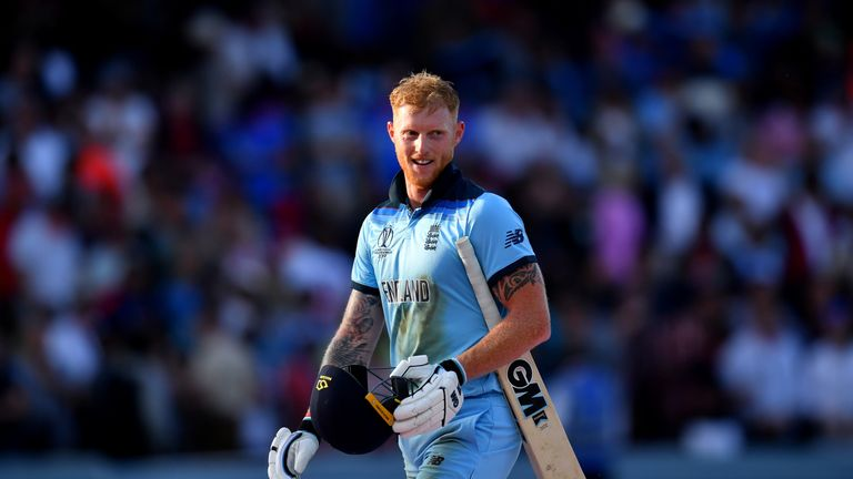 Stokes helped England win the World Cup for the first time