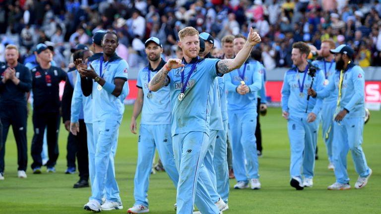 Jack Leach watched Ben Stokes' World Cup winning effort earlier this summer from home
