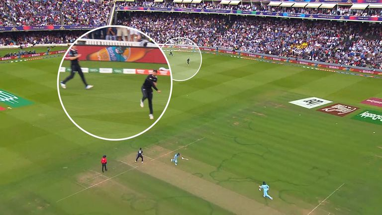 England's batsmen clearly had not crossed after the ball had been thrown, and it has been suggested this means they should have been awarded five runs instead of six