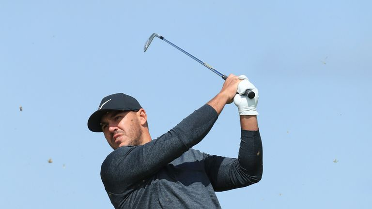 Koepka is two shots off the lead after 18 holes