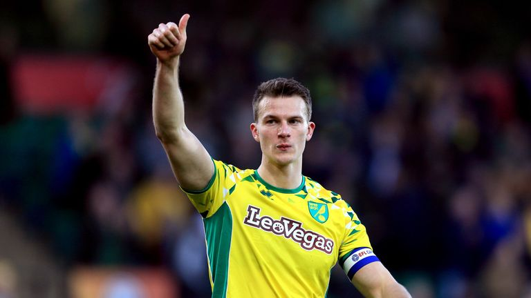 Norwich City captain Christoph Zimmerman in action for Norwich City