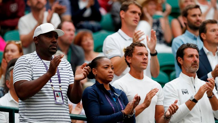 Gauff's father Corey (left) is the primary coach