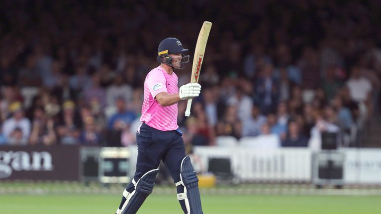 AB de Villiers led Middlesex to a resounding victory on his Vitality Blast debut