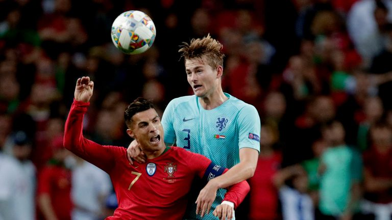 Cristiano Ronaldo asked Matthijs de Ligt about a move to Juventus during their Nations League final encounter