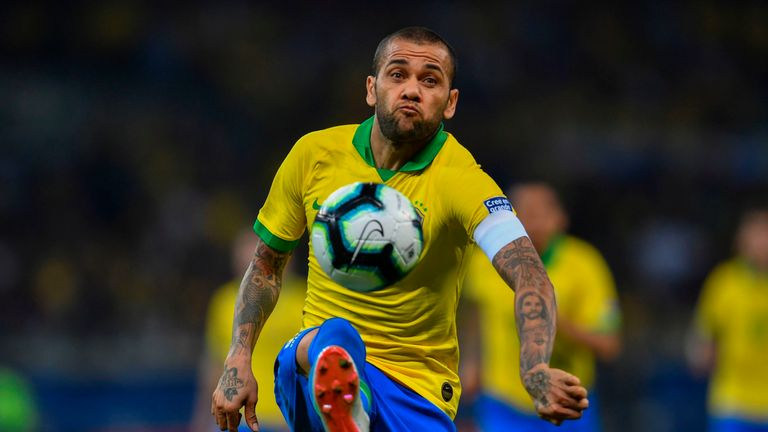Dani Alves belied his advancing years with a sublime display