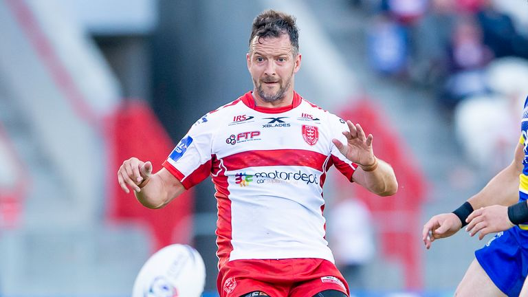 Danny McGuire had a hand in two of Hull KR's tries against Leeds