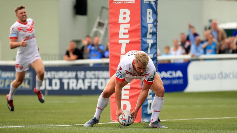 Danny Richardson was one of the try-scorers for St Helens against the Broncos