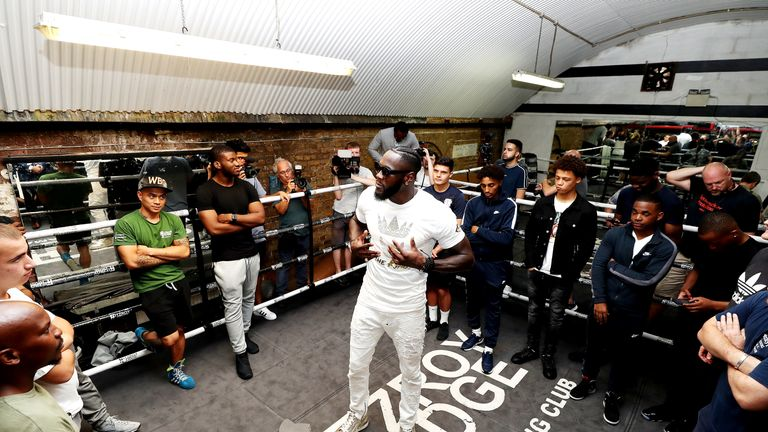 Wilder visited the Fitzroy Lodge gym in London