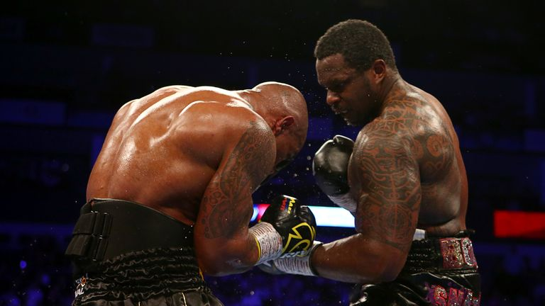 Whyte dug to the body successfully