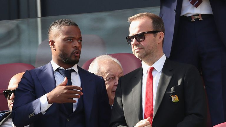 Patrice Evra and Ed Woodward have patched up their relationship since his bitter departure