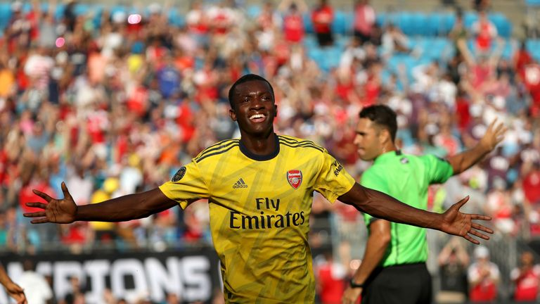 Nketiah has three goals in two games in the International Champions Cup