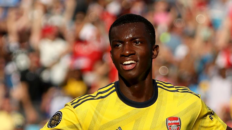 Eddie Nketiah's double added to his goal against Bayern Munich last week