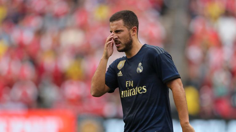 Eden Hazard had a quiet afternoon in his second game as a Real Madrid player