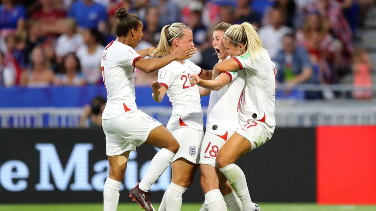Ellen White scored a first-half equaliser in Lyon