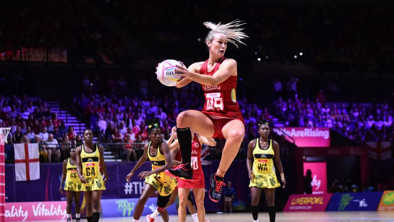 Chelsea Pitman is a Netball World Cup winner with Australia