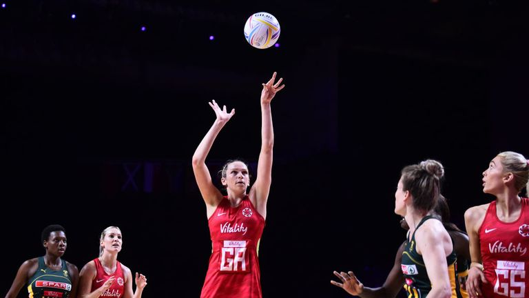 Harten helped England to secure a bronze medal in this summer's Netball World Cup