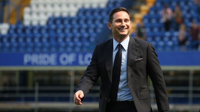 Chelsea's newly appointed head coach Frank Lampard during a photocall at Stamford Bridge