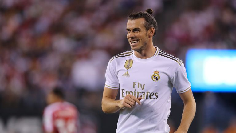 Gareth Bale came on as a substitute as he closes on a move away from Real Madrid
