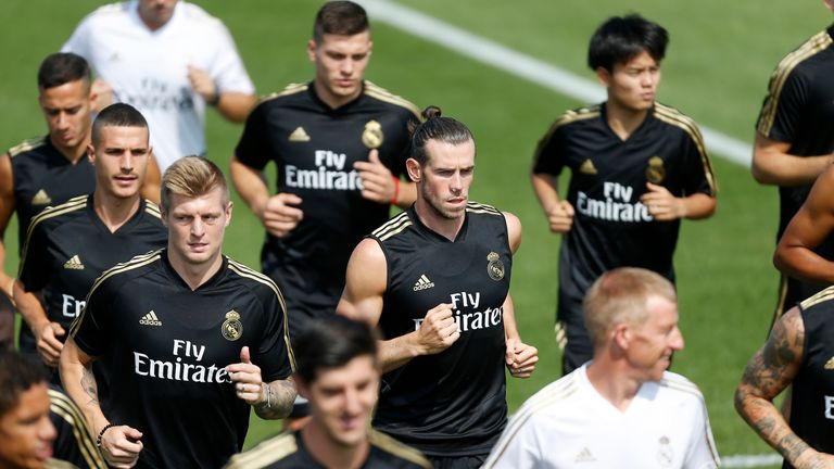 Gareth Bale is with the Real Madrid squad on a pre-season tour of Canada