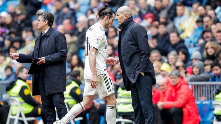 After a war of words in the last few days, the 30-year-old has fallen out of favour at the Bernabeu under Zinedine Zidane