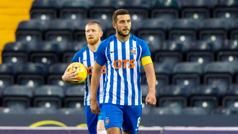 Kilmarnock's Gary Dicker was left frustrated