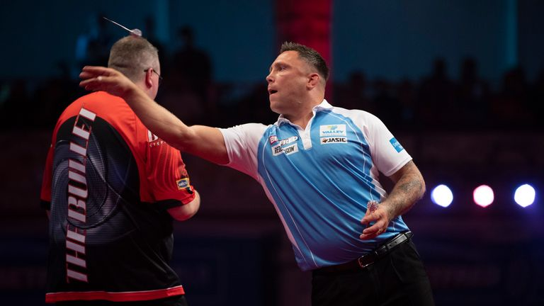 Gerwyn Price was the second of two seeds to crash out on the first night of the World Matchplay in Blackpool