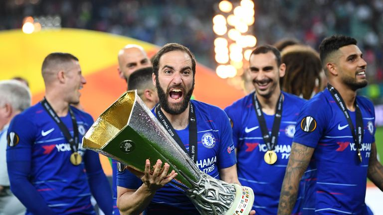 Higuain won the Europa League with Chelsea last season
