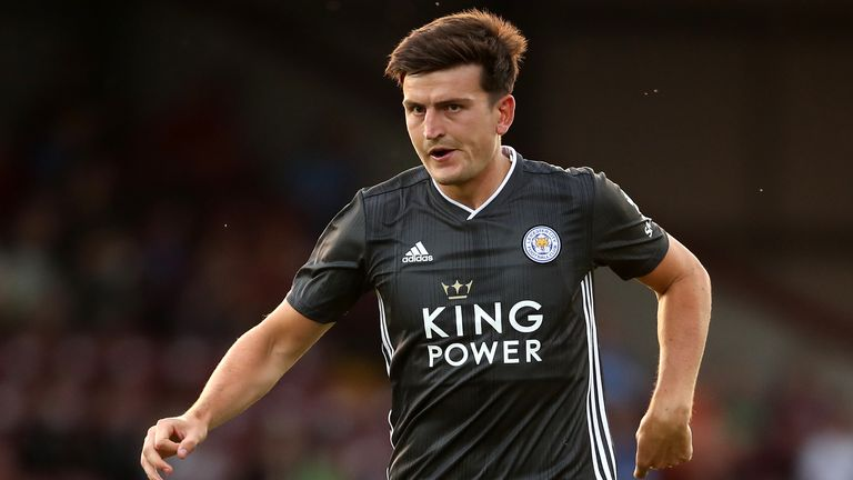 Harry Maguire was a second-half substitute for Leicester at Scunthorpe